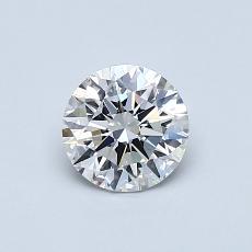 0.70 Carat 圆形 Diamond 理想 E VVS1