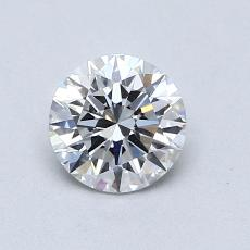 0.71-Carat Round Diamond Ideal E VVS2
