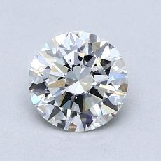 1.00-Carat Round Diamond Ideal F VVS2