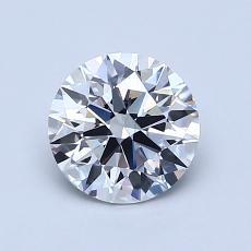 1.00-Carat Round Diamond Ideal F VVS1