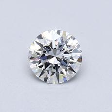 0.50-Carat Round Diamond Ideal F VVS1