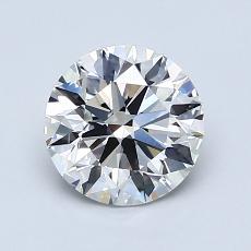 1.27-Carat Round Diamond Ideal F VVS2