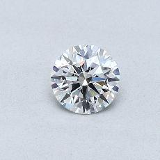 0.31-Carat Round Diamond Ideal D IF