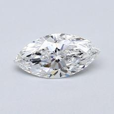 0.50 Carat 榄尖形 Diamond 非常好 D VS1