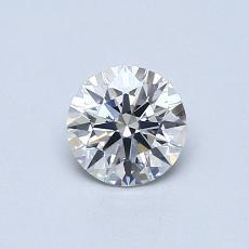 0.53 Carat 圓形 Diamond 理想 H VS2