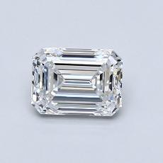 Piedra recomendada 4: Diamante de talla esmeralda de 0.82 quilates