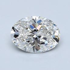 1.01-Carat Oval Diamond Very Good F VS1