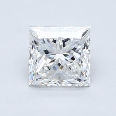 Pierre recommandée n°3: Diamant taille princesse 1,05 carat