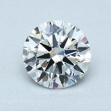 1.01 Carat 圆形 Diamond 理想 H IF