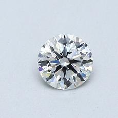 0.40 Carat 圆形 Diamond 理想 F VVS1
