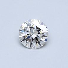 0.40-Carat Round Diamond Ideal F VVS2
