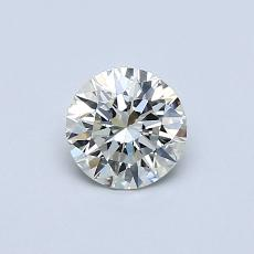 0,50-Carat Round Diamond Ideal J SI1