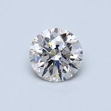 推荐宝石 1:0.54克拉圆形切割钻石