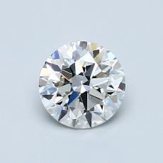 0.75 Carat 圆形 Diamond 理想 G VVS2