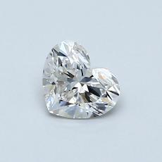 0,50-Carat Heart Diamond Very Good H VS1