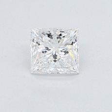 0.58 Carat Princesa Diamond Muy buena E VVS1