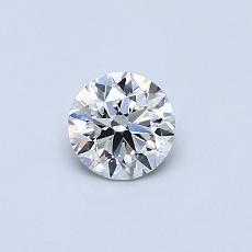 推薦鑽石 #2: 0.40 克拉圓形切割鑽石