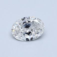 推荐宝石 4:0.50克拉椭圆形切割钻石