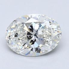 推荐宝石 3:1.23克拉椭圆形切割钻石