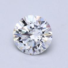0.80 Carat 圆形 Diamond 理想 D VVS1