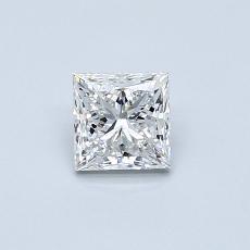 0.50 Carat 公主方形 Diamond 非常好 E SI1