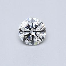 目标宝石:0.30克拉圆形切割钻石