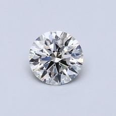 0.50 Carat 圆形 Diamond 理想 I VVS1