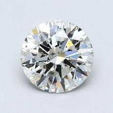 1.01 Carat 圆形 Diamond 理想 I SI1
