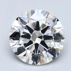 1.50-Carat Round Diamond Ideal E VVS2