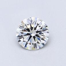 0.60 Carat 圆形 Diamond 理想 D VVS2