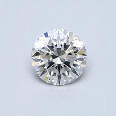 0.53 Carat 圆形 Diamond 理想 F VS2