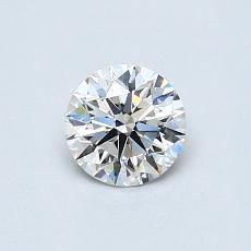 0.50 Carat 圓形 Diamond 理想 F VS1
