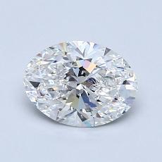 1.00 Carat 椭圆形 Diamond 非常好 E VVS2