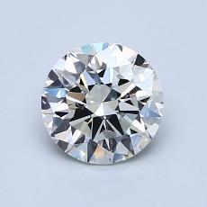 1.00-Carat Round Diamond Ideal I VVS2