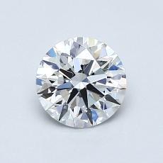 0,81 Carat Rond Diamond Idéale D VS1
