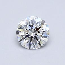 0,51-Carat Round Diamond Ideal D VVS2