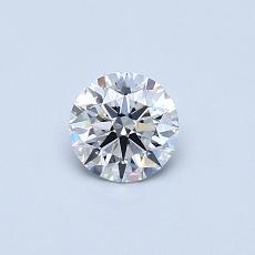 0.40 Carat 圆形 Diamond 理想 E IF