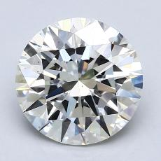 2.00-Carat Round Diamond Ideal I VS1