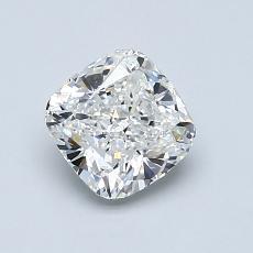 1.01-Carat Cushion Diamond Very Good F VVS1