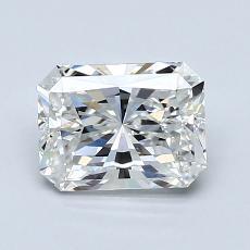 1,20-Carat Radiant Diamond Very Good F VVS2