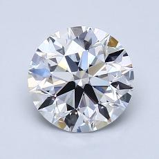 1.50 Carat 圆形 Diamond 理想 D VVS2