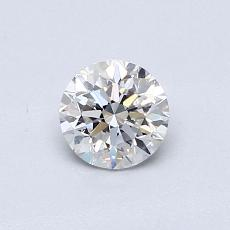 0,50 Carat Rond Diamond Très bonne E VVS2