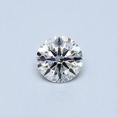 0,30-Carat Round Diamond Ideal E SI2
