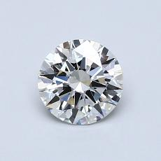 0.71 Carat 圆形 Diamond 理想 H IF