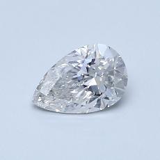 0.50-Carat Pear Diamond Very Good F SI2