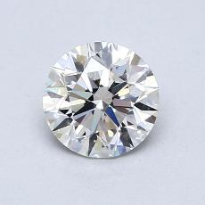0.80-Carat Round Diamond Ideal F VVS1
