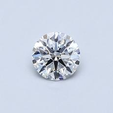 0.40-Carat Round Diamond Ideal D VVS1
