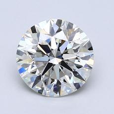 1,50 Carat Rond Diamond Idéale I VVS1