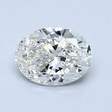 1.00 Carat 椭圆形 Diamond 非常好 H VS2