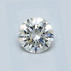 0,60-Carat Round Diamond Ideal J VVS2